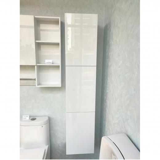 三門收納側櫃(白色)
