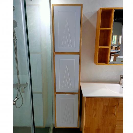 三門收納側櫃(木紋色)