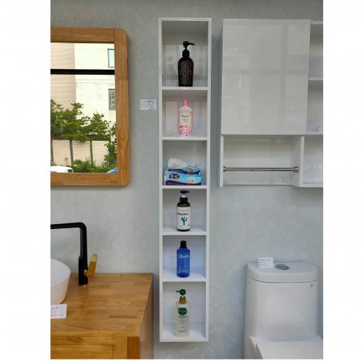 開放收納側櫃(白色)
