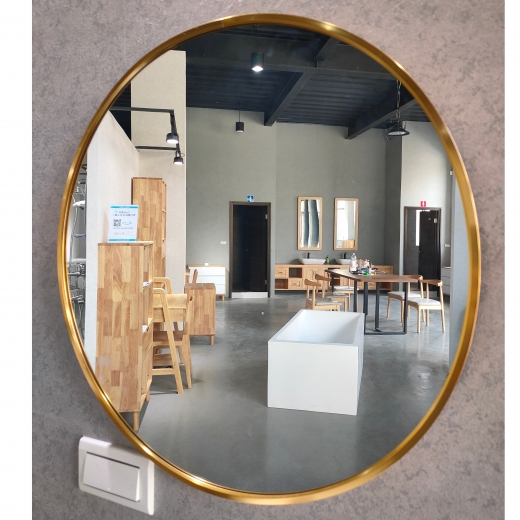 50CM圓鏡(金框)