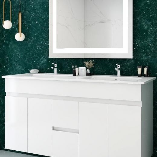 雙槽臉盆浴櫃(寬121)
